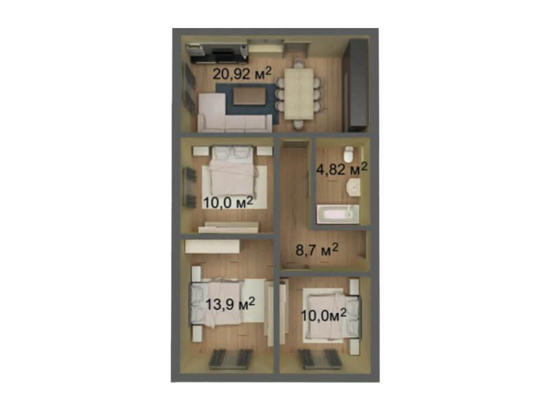 КП Знание 7x12 1 этажный
